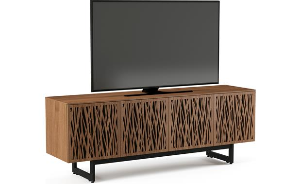 BDI Elements 8779 Natural Walnut w/Wheat Doors - left front (TV not included)