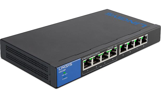 Linksys LGS108P connections for up to 8 devices