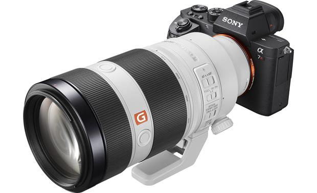 Sony Alpha FE 100-400mm f/4.5-5.6 GM OSS Shown mounted on Sony camera (not included)
