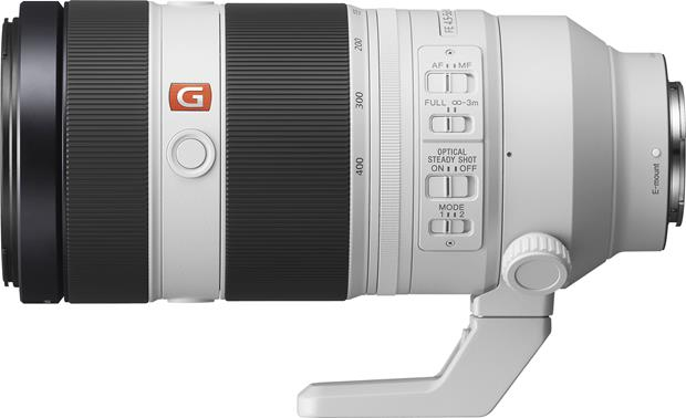 Sony Alpha FE 100-400mm f/4.5-5.6 GM OSS Side view