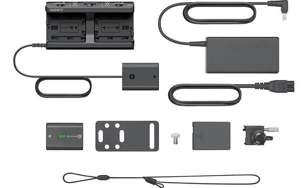 Sony Alpha Multi Battery Adapter Kit Shown with all included accessories