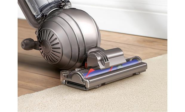 Dyson Cinetic™ Big Ball Animal + Allergy Active base plate on cleaner head lets you move from wood floor to carpet without losing suction