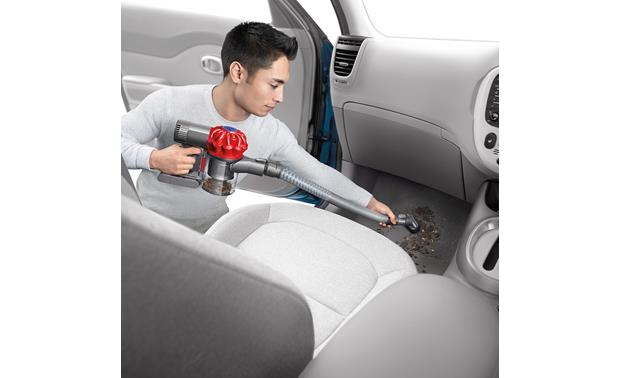 Dyson V6 Car+Boat The included extension hose gives you several feet of extra reach