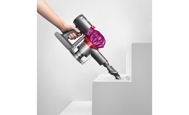 Dyson V7 Motorhead Transforms to a handheld vac for cleaning on the stairs