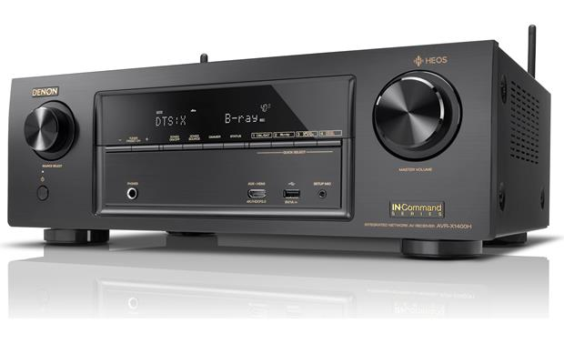 Denon AVR-X1400H IN-Command Angled front view