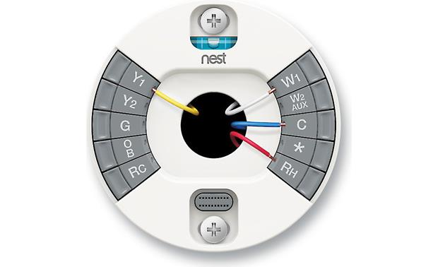 Nest Learning Thermostat, 3rd Generation The wall plate includes a handy wiring guide