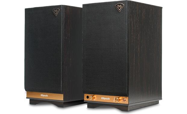 Klipsch The Sixes Ebony - with grilles attached