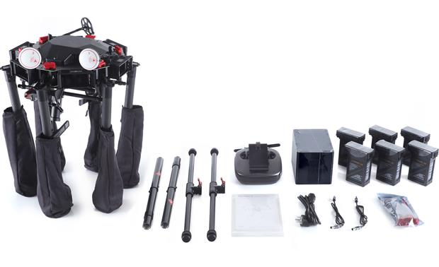 DJI Matrice 600 Pro Hexacopter Shown with included accessories