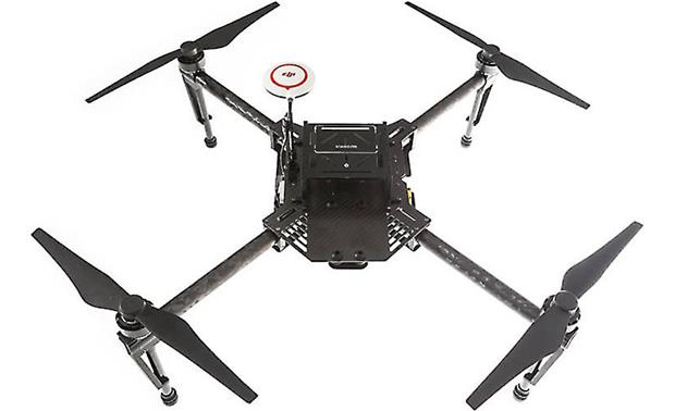 DJI Matrice 100 Quadcopter Shown with included N1 flight controller mounted