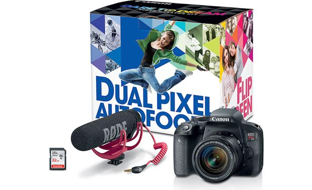 Canon EOS Rebel T7i Video Creator Kit Includes 18-55mm lens, Rode VideoMic GO, and 32GB SanDisk memory card