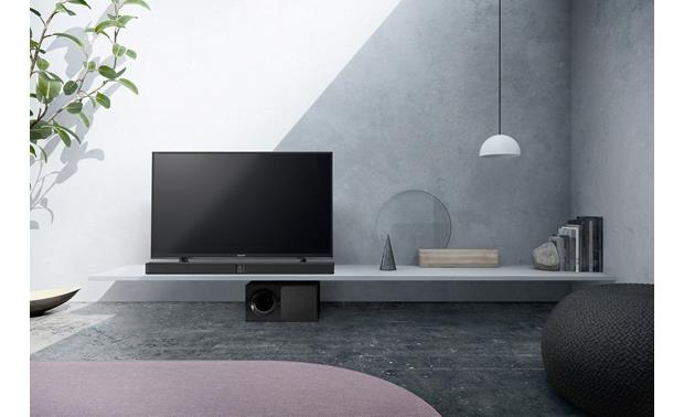 Sony HT-CT290 Slim design fits below most TVs on a stand