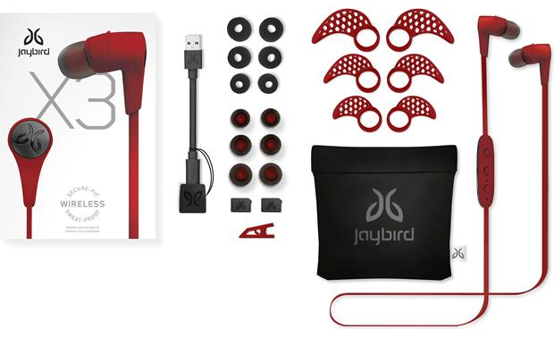 0b8e232de64 Jaybird X3 Wireless (Red) In-ear Bluetooth® sports headphones at ...