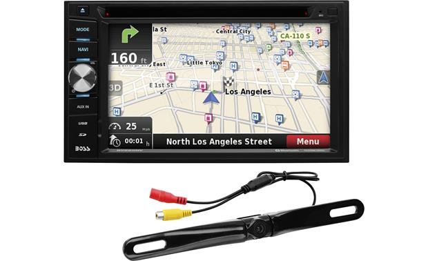 Boss BN965BLC Navigation receiver with included rear-view camera at