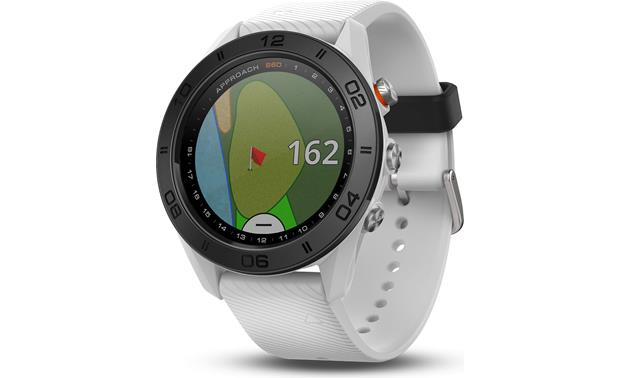 Garmin Approach® S60 This sleek looking watch will help your game, and it offers several fitness tracker features.