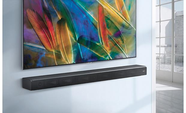 Samsung Sound+ HW-MS650 Wall-mounts cleanly below your flat-screen TV