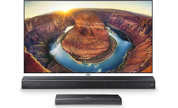 Samsung Sound+ HW-MS650 4K/HDR video passthrough with compatible TV and devices (sold separately)