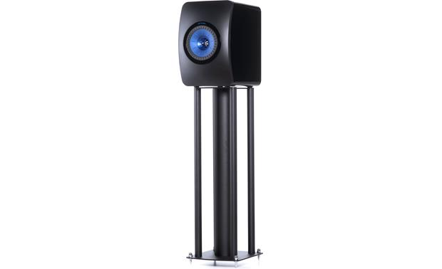 KEF LS50 Speaker Stands Shown with LS50 speaker (not included); the included spikes are black, not silver