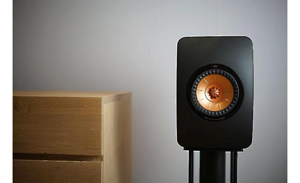 KEF LS50 Shown on KEF LS50 speaker stand (not included)