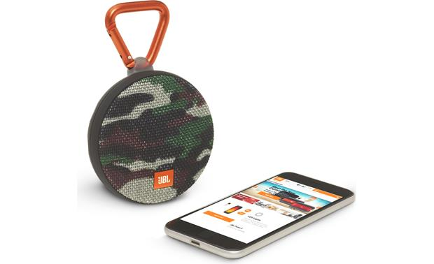 JBL Clip 2 Camouflage - stream wirelessly via Bluetooth (smartphone not included)