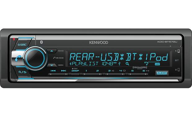 Kenwood KDC-BT572U Kenwood moved some of the connections towards the rear, so they could include a bigger, more sleek display