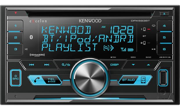 Kenwood Excelon DPX593BT Simple controls let you get to your music quickly, while the 3-line display shows you what's playing