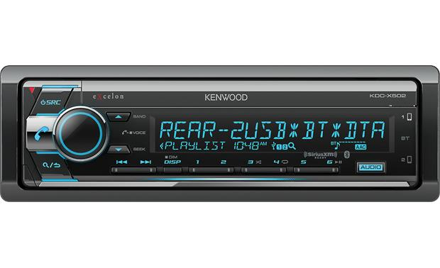 Kenwood Excelon KDC-X502 Quality sound-sculpting tools and versatile Bluetooth complement this receiver's sleek look