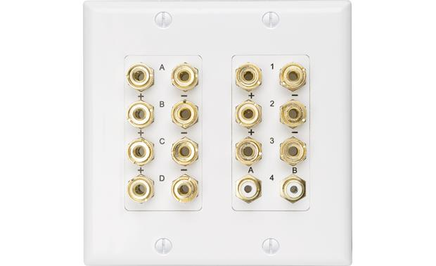 Russound HTP-7.2 Home Theater Wall Plate Connect up to 7 speakers and 2 powered subwoofers
