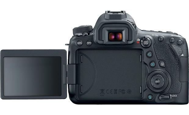 Canon EOS 6D Mark II Kit Back, with touchscreen flipped out