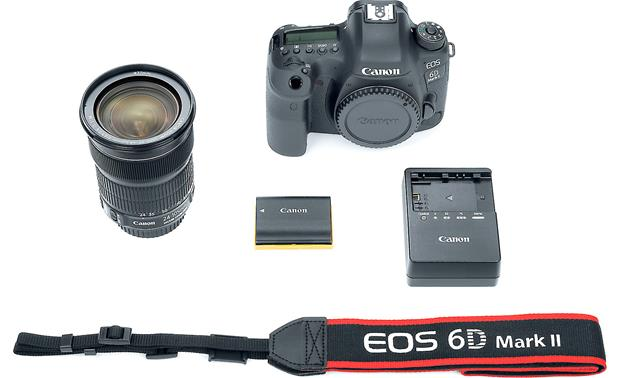 Canon EOS 6D Mark II Kit Shown with included accessories