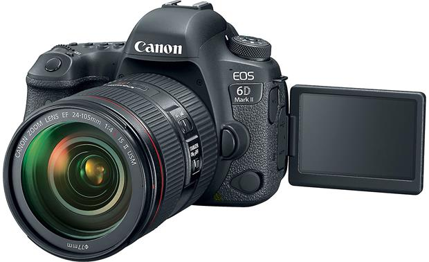 Canon EOS 6D Mark II L-series Zoom Lens Kit Front, with touchscreen flipped forward