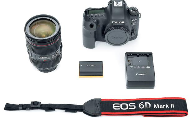Canon EOS 6D Mark II L-series Zoom Lens Kit Shown with included accessories