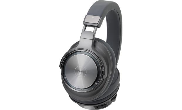 Audio-Technica ATH-DSR9BT volume and playback controls on left earcup
