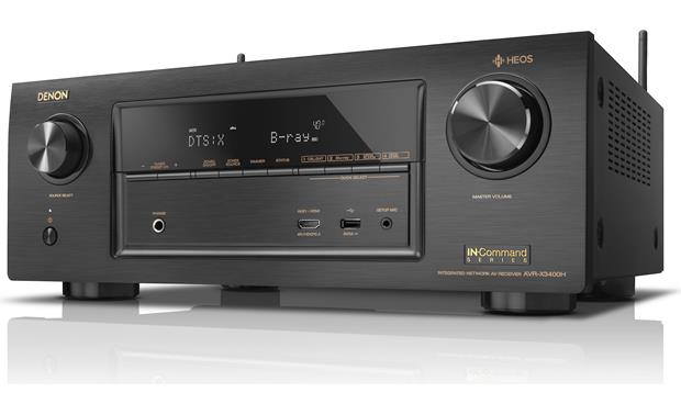 Denon AVR-X3400H IN-Command Angled front view