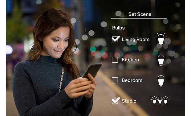 TP-Link LB120 Smart Bulb Set up one-touch scenes for housewide lighting