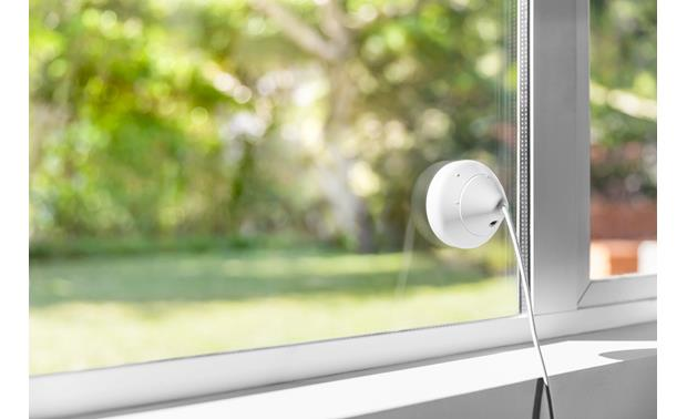 Logitech® Circle 2 Window Mount The camera stays inside, but you can see what's going on outside