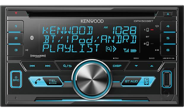 Kenwood DPX503BT This big-faced car stereo lets you set the display color and see your music info at a glance
