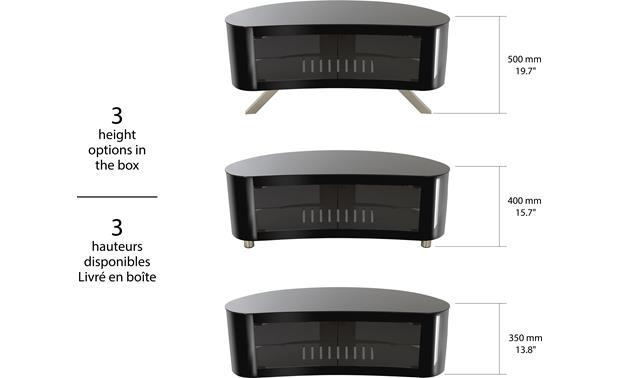 AVF Affinity Bay 1150 Black - height options