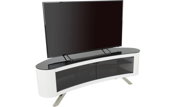 AVF Affinity Bay 1500 Gloss White - left front (TV not included)