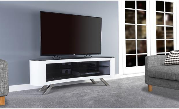 AVF Affinity Bay 1500 Gloss White (TV not included)