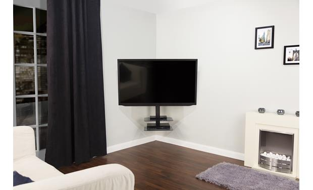 AVF Floating Cornermount Corner-mount at any angle (TV and components not included)