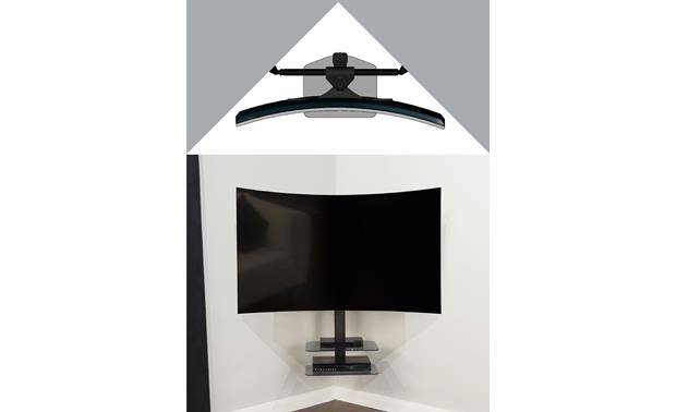 AVF Floating Cornermount Ideal for corner-mounting curved TVs (TV and components not included)