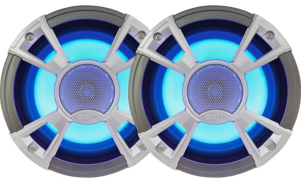 Clarion Cmq1622rl 6 1 2 Quot Marine Speakers With Built In Led