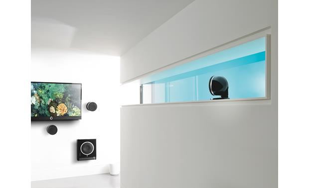 Focal Dôme Flax Pack 5.1 Satellites and subwoofer are wall-mountable for lot of placement flexibility