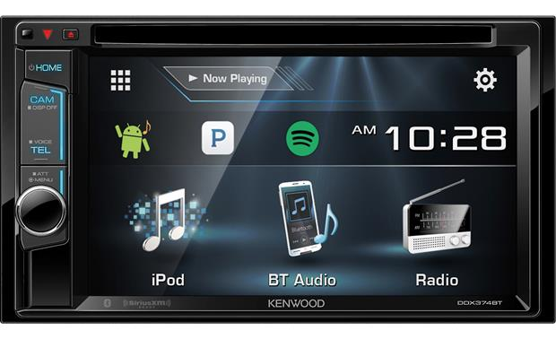 Kenwood DDX374BT Use this Kenwood's touchscreen to control Internet radio from your Android or iPhone