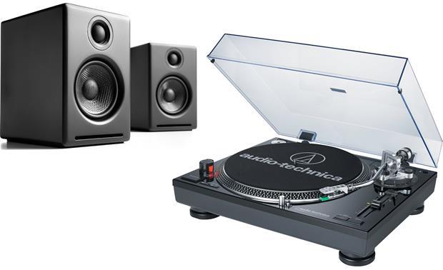 audioengine a2 audio technica at lp120bk usb bundle versatile desktop record playing system at. Black Bedroom Furniture Sets. Home Design Ideas