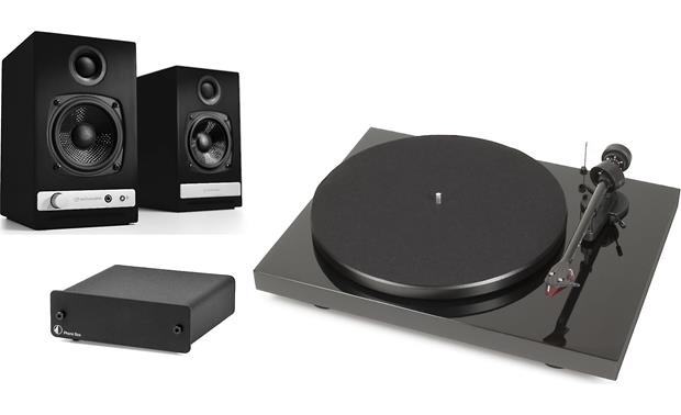 Audioengine HD3/Pro-Ject Debut Carbon/Phono Box DC Bundle Front