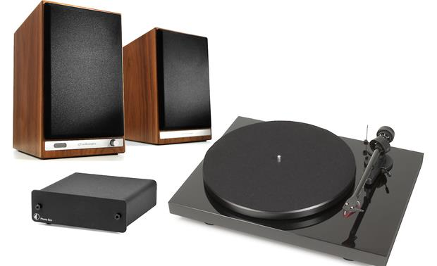 Audioengine HD6/Pro-Ject Debut Carbon/Phono Box Bundle Front