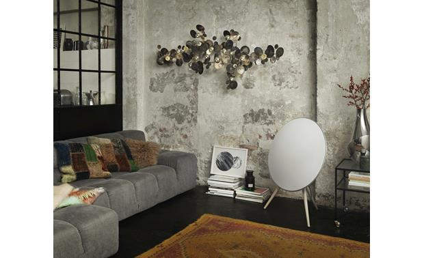 Bang & Olufsen Beoplay A9 White with Maple Legs - fits with most any decor