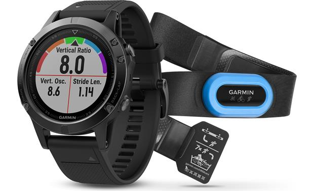 Garmin Fenix 5 Sapphire Performer Bundle The Performance Bundle includes Garmin's HRM-Tri heart rate monitor