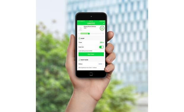 Belkin Wemo Wi-Fi® Smart Dimmer Control one or more switches with the free Wemo app